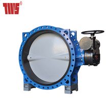 Large Size Double Flange Rubber Lined Butterfly Valve
