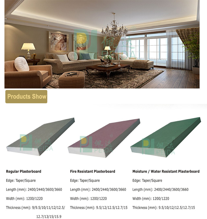 Hot Sales Plaster Ceiling Panel with 4*8 Size