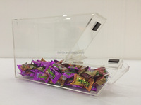 Customized logo clear acrylic candy box in store