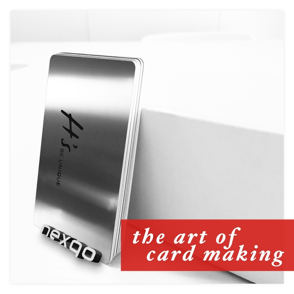 Custom design stainless steel business cards