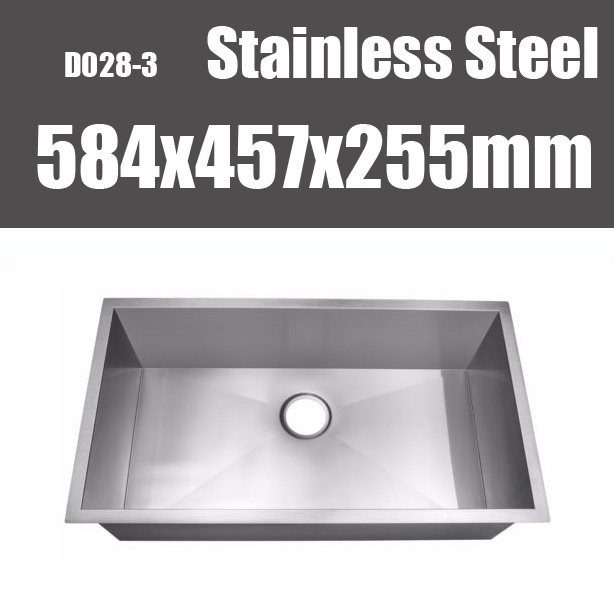 23 Inch Handmade Undermount Kitchen Sink Stainless Steel Single Basin