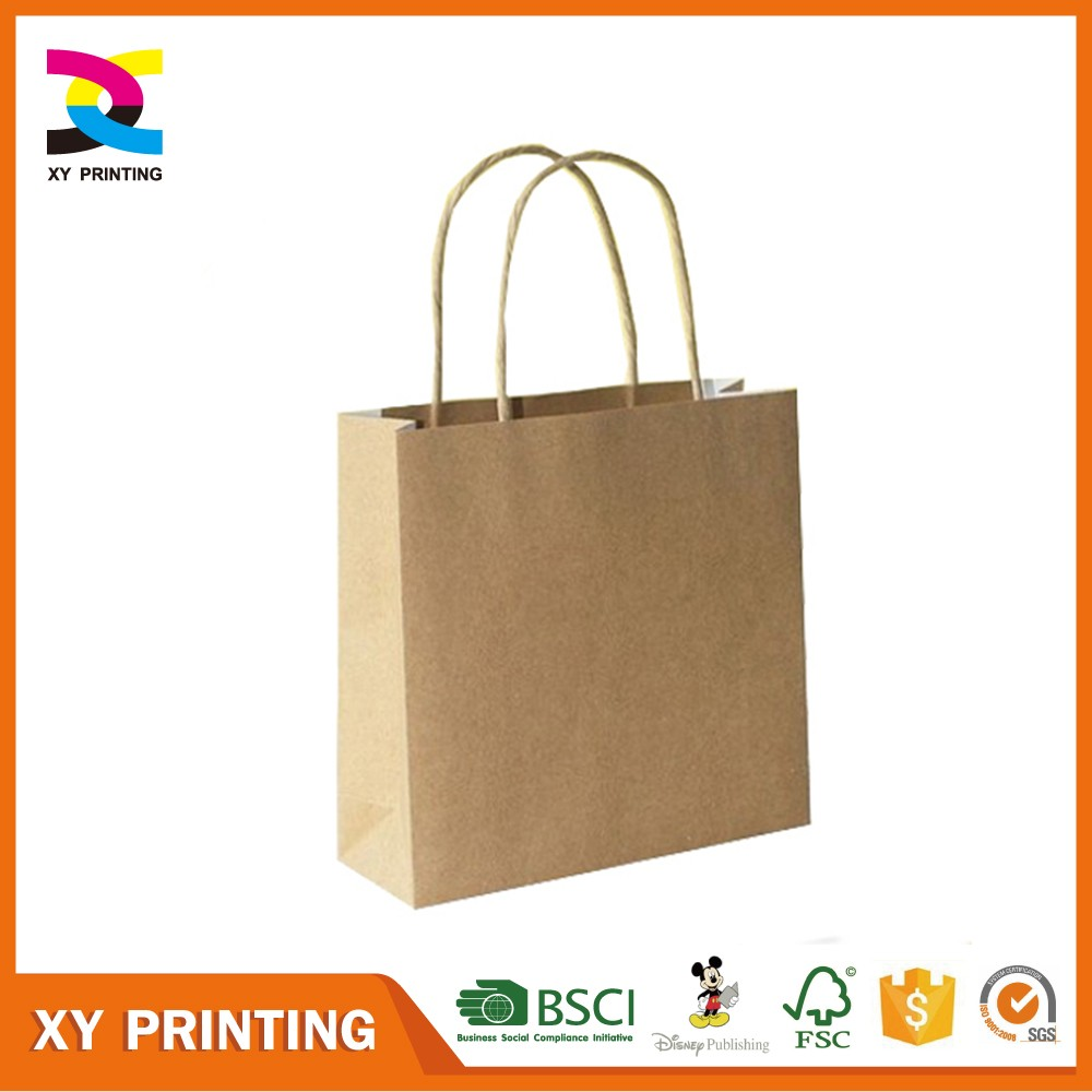 cheap small brown paper bags with handles