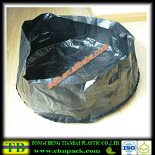 black round bottom plastic inner liner bag