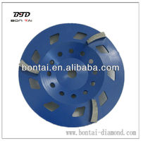 Diamond grinding wheel with 3 segments for coarse grinding