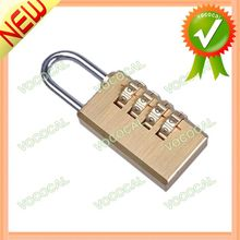 Resettable 4 Digit Security Combination Password Door Digital Lock Brass Padlock For Luggage Cabinet