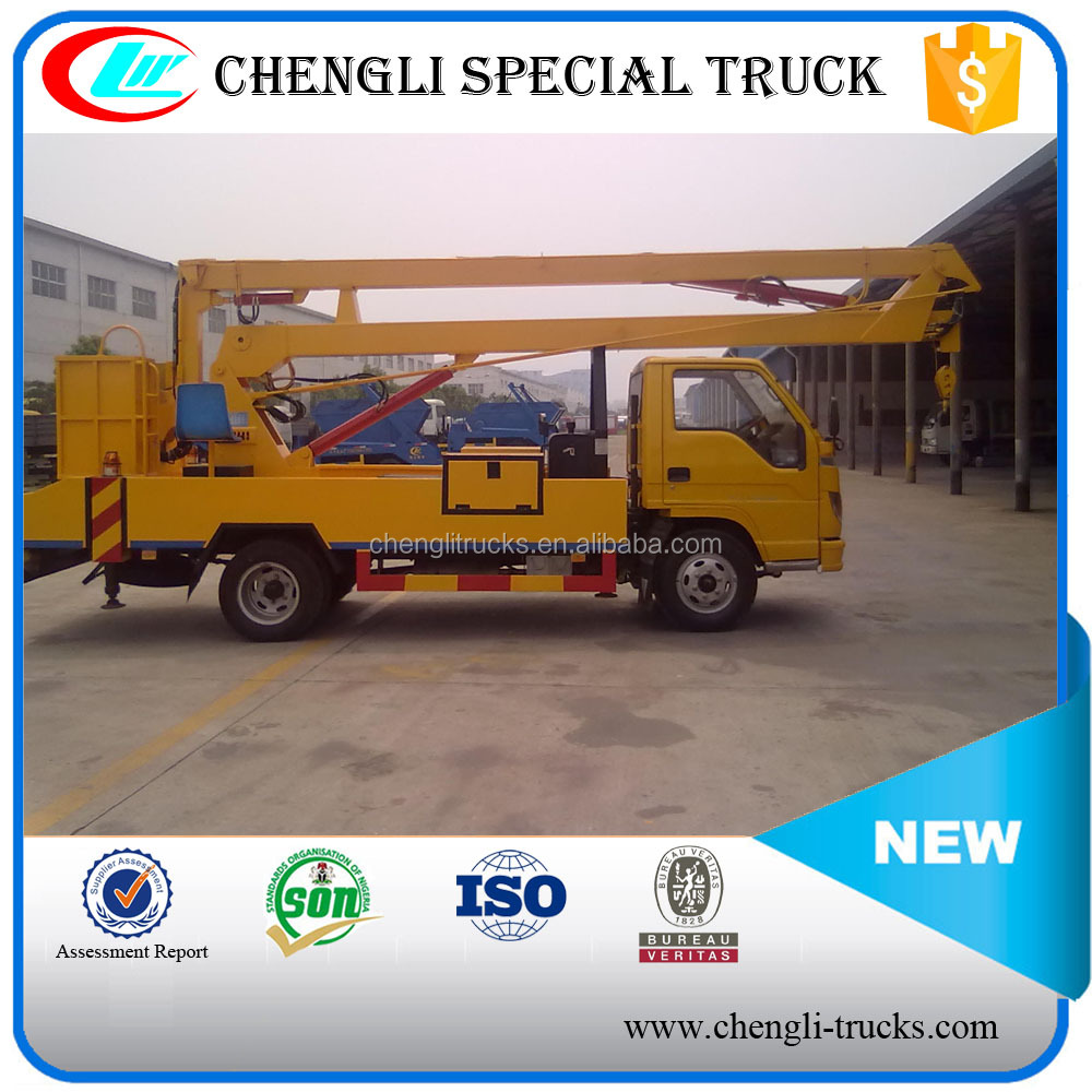 8-10m working height 4*2 foton right hand driving small overhead working truck