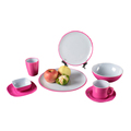 SGS approved solid color round shape melamine dinnerware set