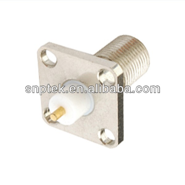 RF Coaxial Connector F Female Panel Mount
