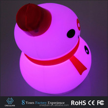2017 Best selling silicone snowman battery led night lamp baby led nightlight