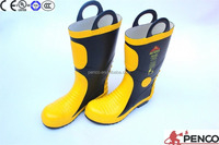 fireman protecting wearing shoes rubber steel toe working safety chinese wholesale working fire retardant boots