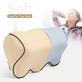 BYC Car Seat Neck Pillow Adjustable Band Memory Foam Car Head Rest