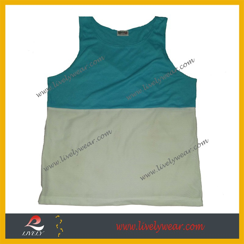 Sublimation printed tee shirt wholesale 100% polyester running singlet