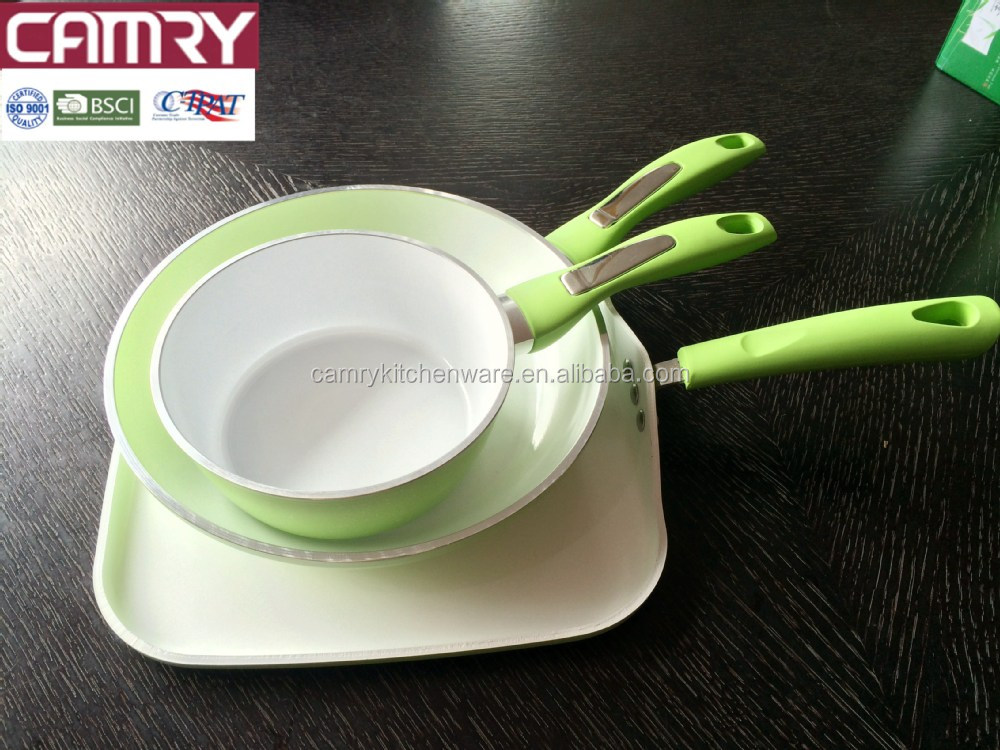 Forged Aluminum White Ceramic Coating Cookware Set