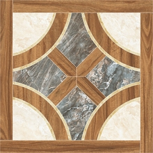 Wood Frame Marble Mix 800mmX800mm Porcelain Tiles Living Room/Full Glossy Tile for Front Rooms