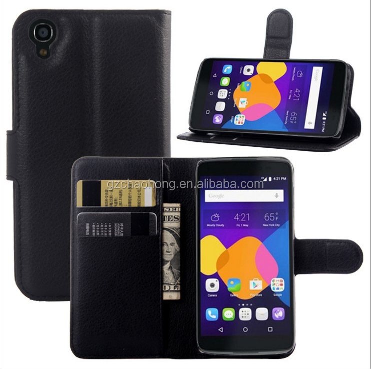 High Protective Mobile Phone Leather Wallet Case for Alcatel Idol 3 5.5 inch wholesale price
