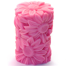 LZ0086 Nicole pillar flower silicone decoration candle mold