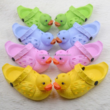 2015 cheap wholesale shoes in china cute duck cartoon garden clogs outdoor eva clogs for children