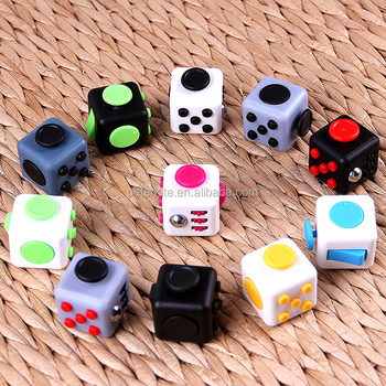6 sides second generation custom fidget cube for Children and Adults