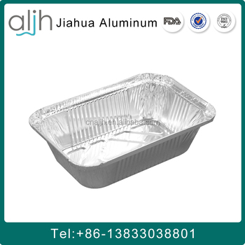911 Disposable Rectangular aluminium foil container made in china
