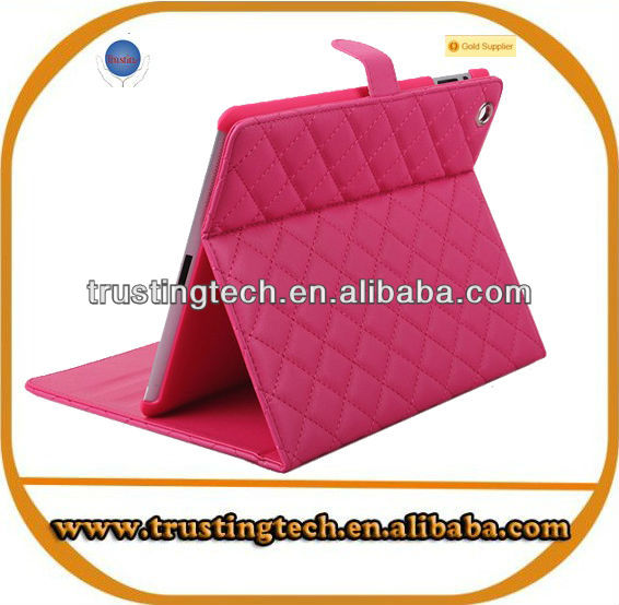 High quality lamb print flip stand leather case for Samsung galaxy tab P6800
