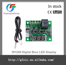 W1209 Digital Blue LED Display DC 12V Heat Cool Temp Thermostat Temperature Control Switch Module On/Off Controller Board + NTC