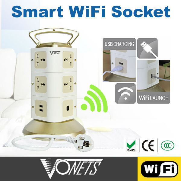 Smart Home Wireless multi socket extension cord 2 USB port