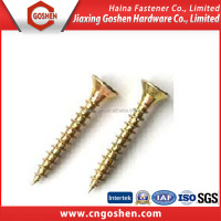 Color zinc plated Carbon steel wood self tapping hex leg screw