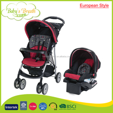 BS-30 european style travel system dsland baby stroller 3 in 1 with carrycot and carseat