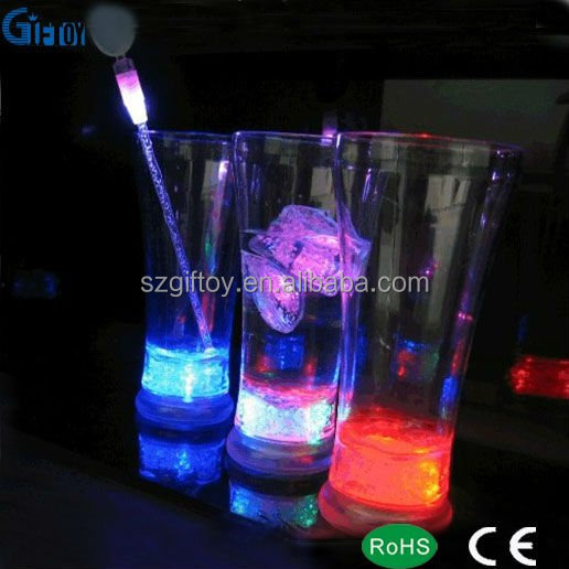 Cold Drinking Promotion LED Glow In The Dark Plastic Cup