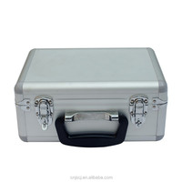 2014 hot sale Aluminum tool case with various color made in China silver suitcase-style aluminum portable tool case
