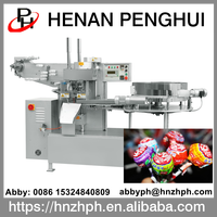High quality full automatic lollipop wrapping machine