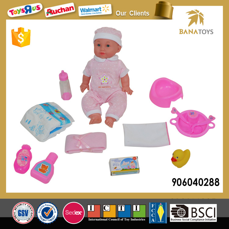 Promotional vinyl baby toy doll with 10 parts for kid