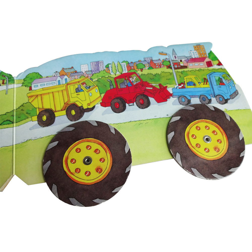 Top Quality Customized Children Tractor and Truck Shaped Activity Board Book with Educational Easy Story Book Prinitng Service