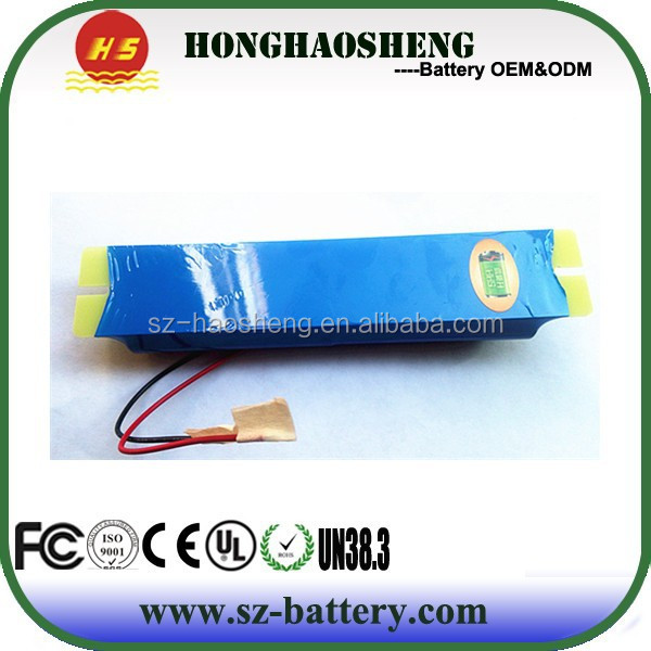 2015 customized 14.8v 2000mah 18650 4s batteries LED light external battery pack