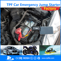 TPF powerful mini USB LED light portable battery car jumper charger jump starter