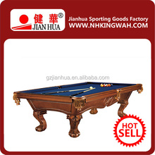 Luxury Hand Carved Lion Head Carving Pool Table Solid Wood Pool Table