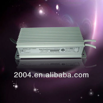 led driver 12V 60W IP67 Power Supply for led lighting with CE,SAA,C-TICK certification