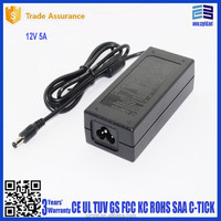 power supply led lights 12v 5a ac dc adapter charger 60w exchangeable plug