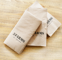 2ply printed brown paper dinner napkins with logo