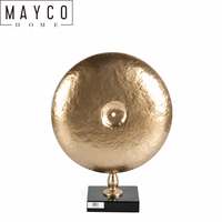 Mayco Metal Gold Wedding Bell Table Top Craft Sculpture Decoration