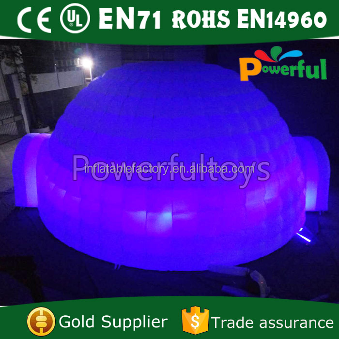 disco lighting dome tent inflatable igloo disco event tent