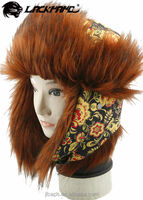 Russian thick earflap hat trapper hat for cold winter