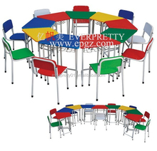 2015Hot Sale Kindergarten Furniture Cheap High Quality Child Table Guangzhou Kids Desk and Chair