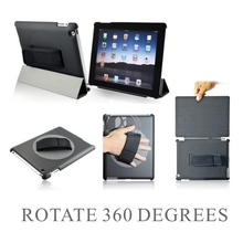 360 rotate hand strap case corner protection case for ipad