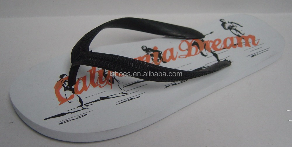 Nice design summer custom printing men pvc strap pe slippers