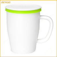 Wholesale Personalized Ceramic Tumblers,14 Oz Double Insulated Imprinted Plastic coffee cup