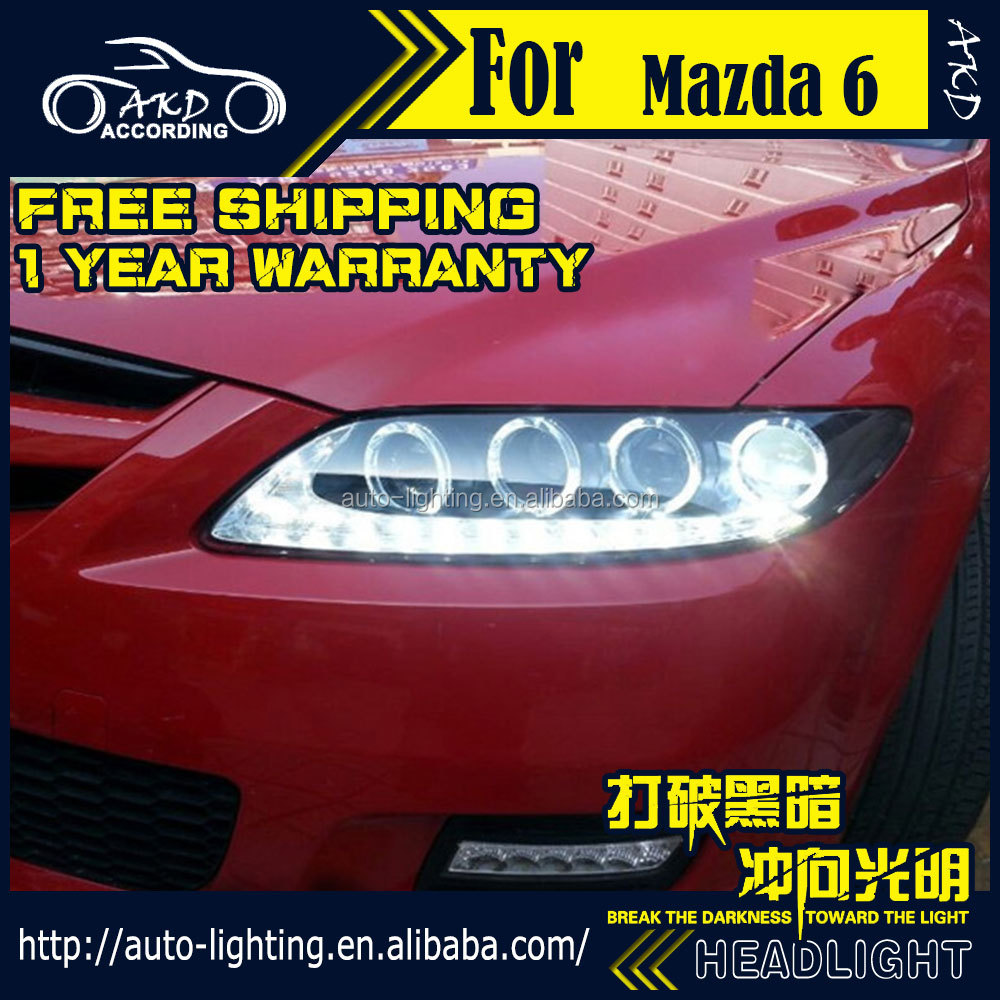 AKD Car Styling for Mazda 6 LED Headlight 2004-2012 Mazda6 LED Head Lamp Projector Bi Xenon Hid H7