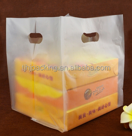 customizable transparent food safe heat seal plastic pizza box packing bags