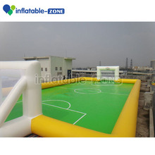 2016 soccer field inflatable football court Inflatable soap football field
