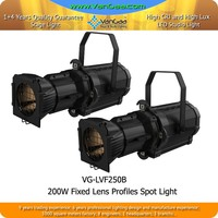 200W Spotlight LED Ellipsoidal Stage Lighting Fixture 200W White Profile Spot Light